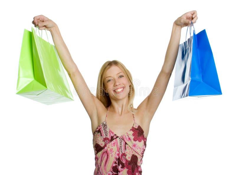 Mujer Emocionada De Las Compras Imagen De Archivo Gratis