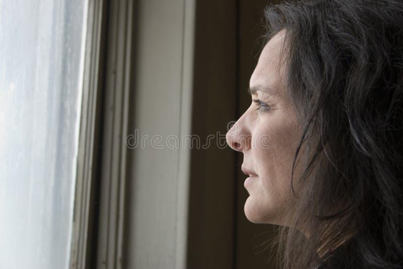 Mujer empobrecida fotografía de archivo libre de regalías