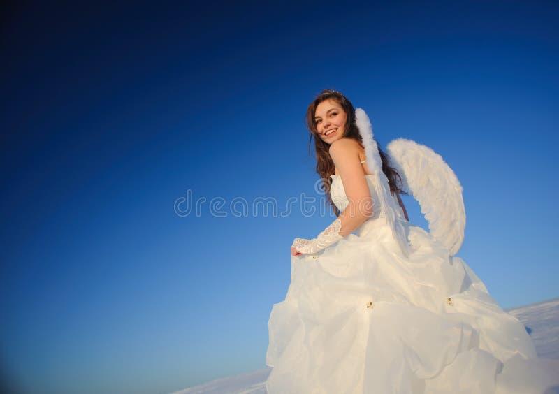 Mujer en alineada de boda fotografía de archivo