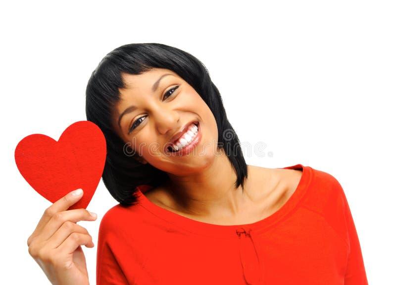 Mujer en amor imagen de archivo