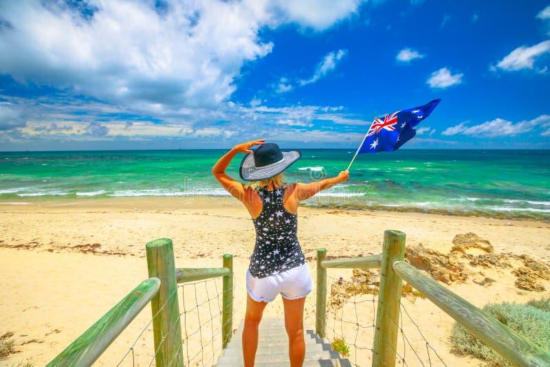 Mujer en Australia occidental imagen de archivo