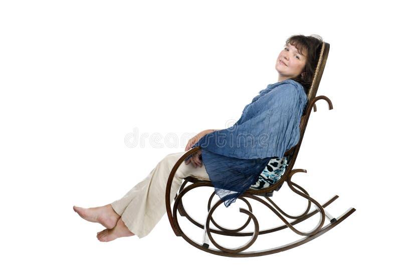 Mujer en blanco imagen de archivo libre de regalías