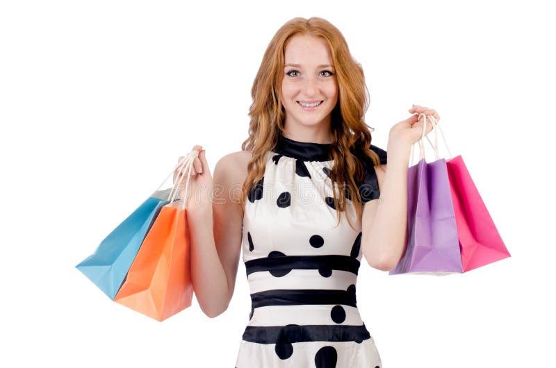 Download Mujer en compras foto de archivo. Imagen de hermoso, alegre - 41915484