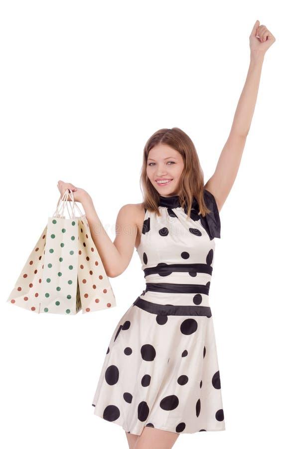 Download Mujer en compras foto de archivo. Imagen de aislado, lindo - 41915598