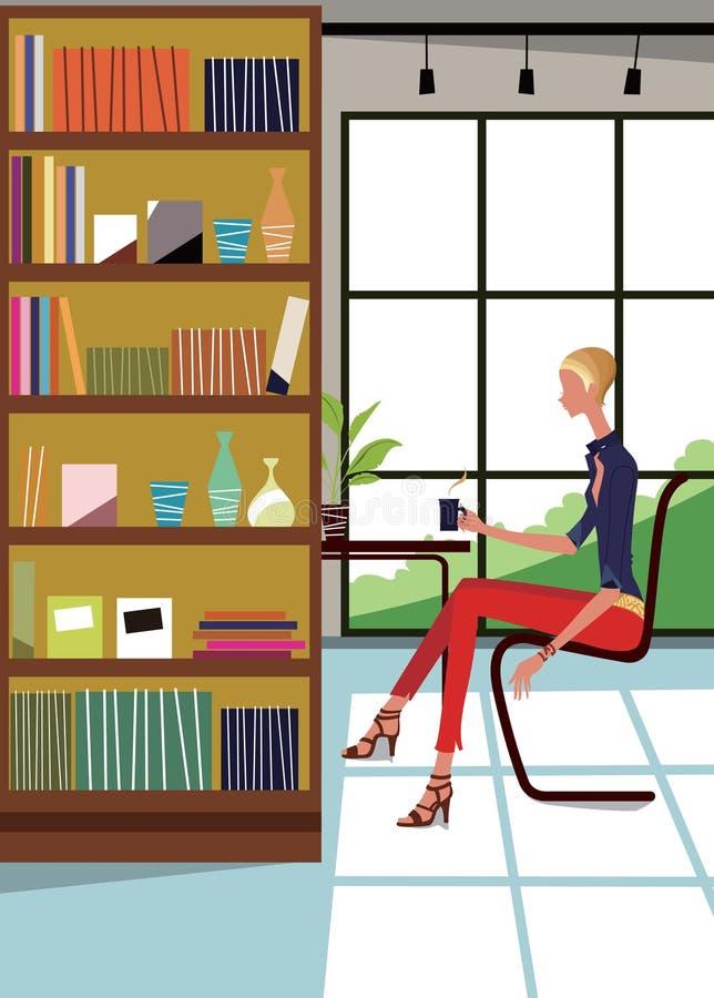 Mujer en el país 1-2 libre illustration