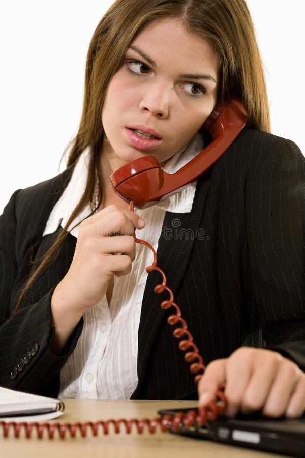 Mujer en el teléfono foto de archivo