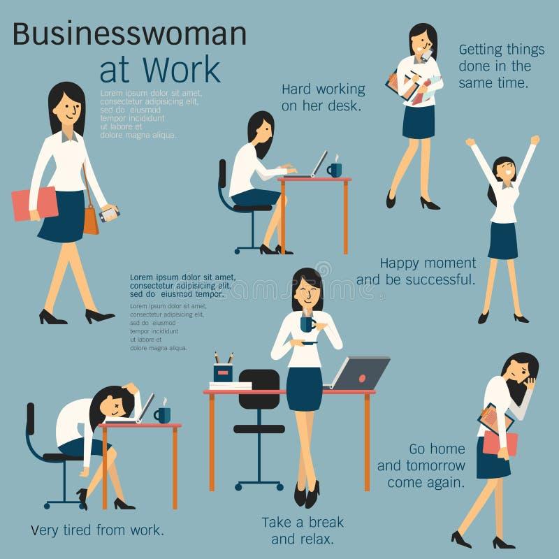 Mujer en el trabajo libre illustration