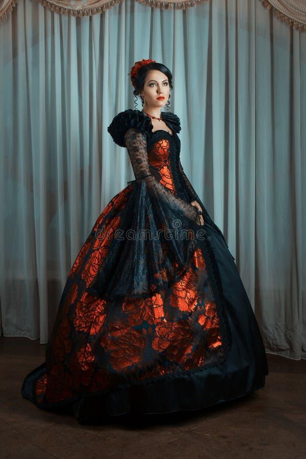Mujer en estilo del vintage imagen de archivo