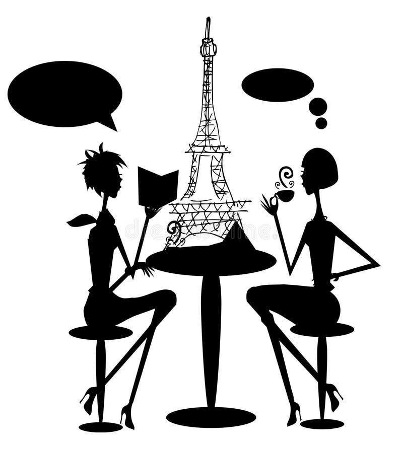 Mujer en Francia París stock de ilustración
