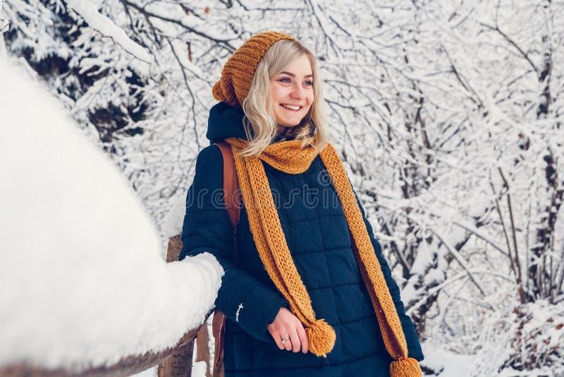 Mujer en invierno fotos de archivo
