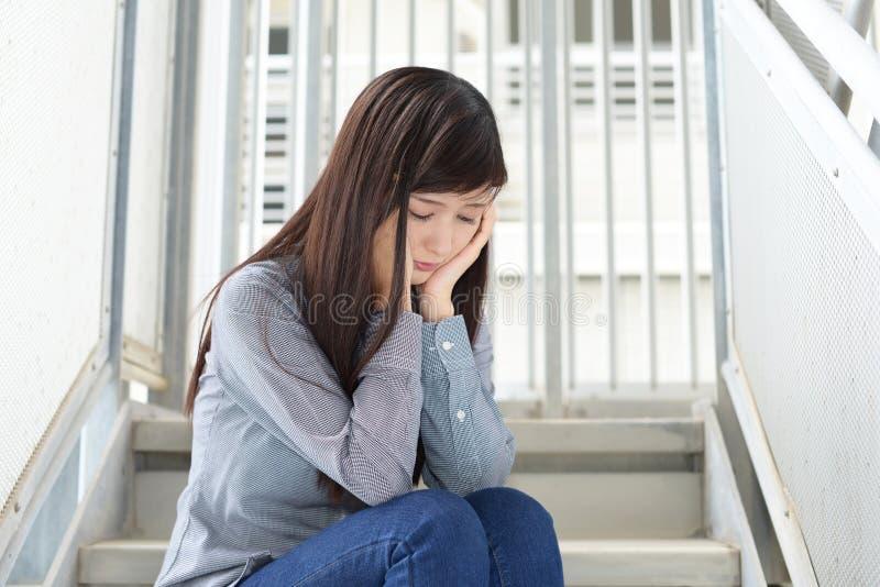 Mujer en la depresión fotografía de archivo