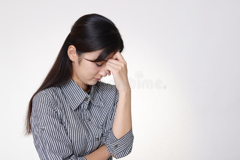 Mujer en la depresión fotos de archivo