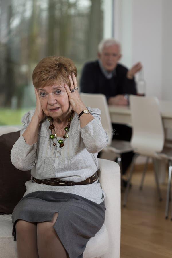 Mujer en la desesperación fotos de archivo libres de regalías