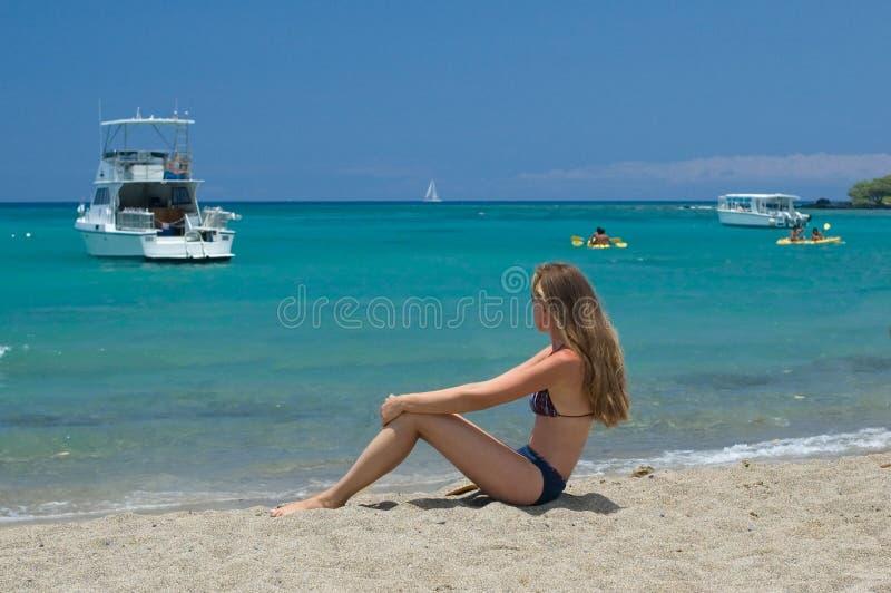 Download Mujer en la playa foto de archivo. Imagen de vacaciones - 1286274