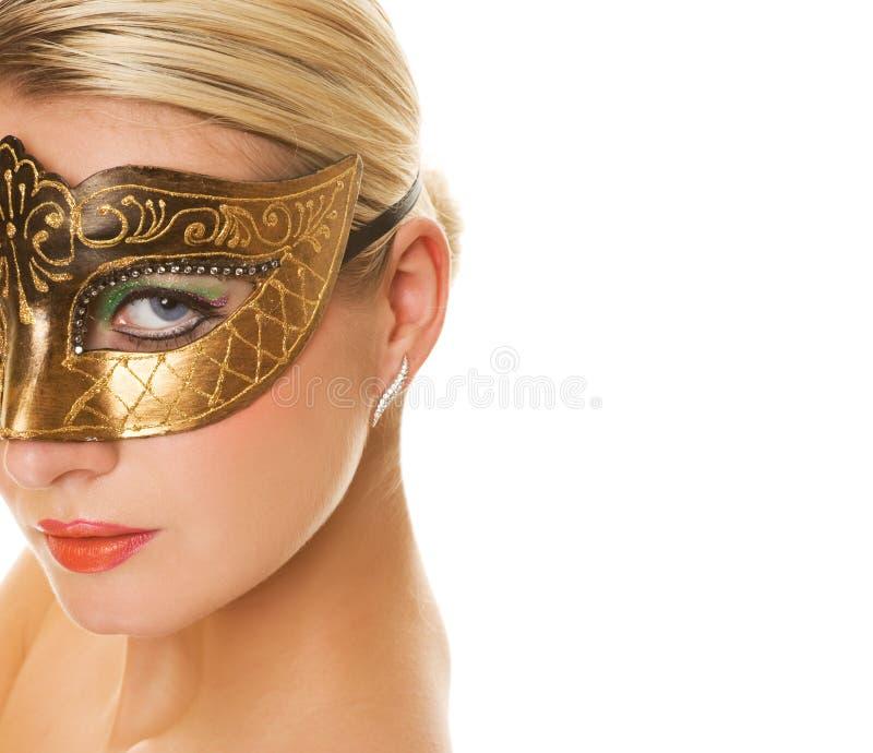 Mujer en máscara del carnaval imágenes de archivo libres de regalías