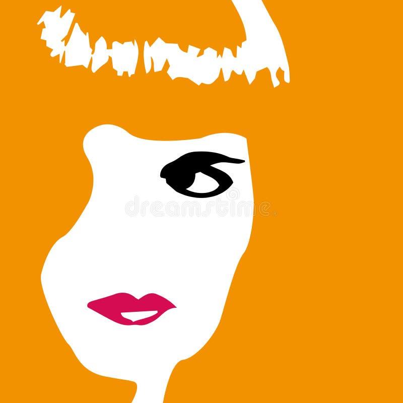 Mujer en naranja libre illustration