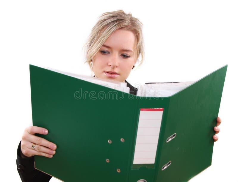 Mujer en oficina fotos de archivo libres de regalías