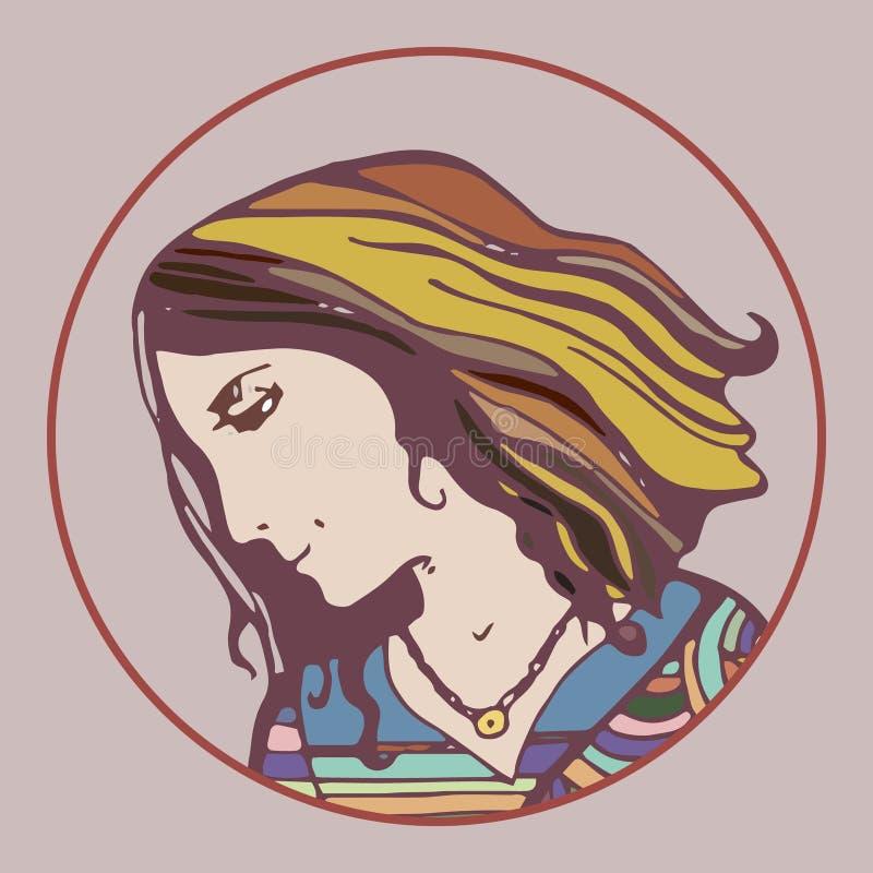 Mujer en perfil fotos de archivo