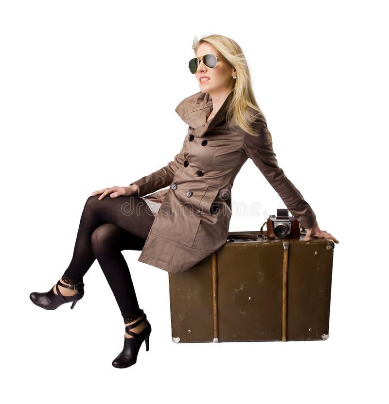 Mujer en recorrido imagen de archivo libre de regalías
