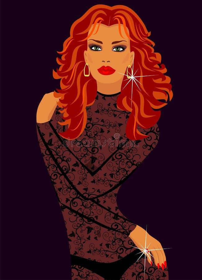 Mujer en ropa interior de encaje ilustraci n del vector - Fotos de mujeres en ropa interior de encaje ...