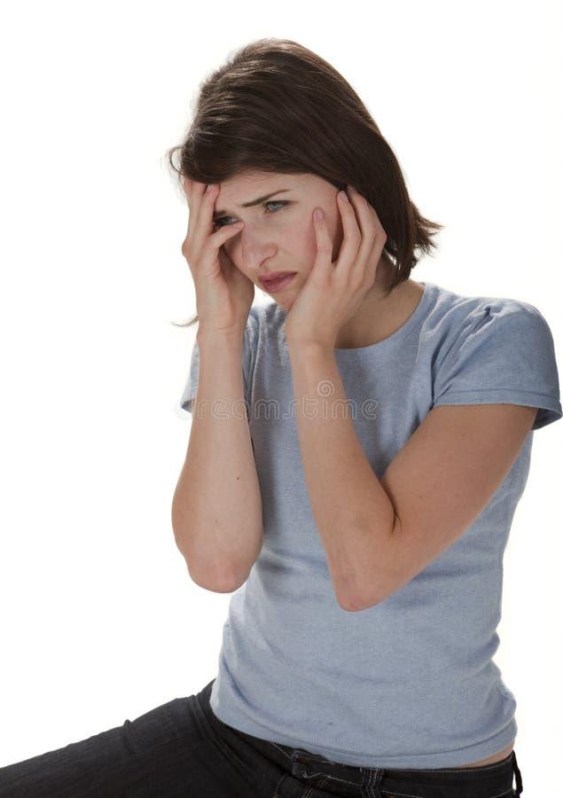 Mujer en señal de socorro imagen de archivo libre de regalías