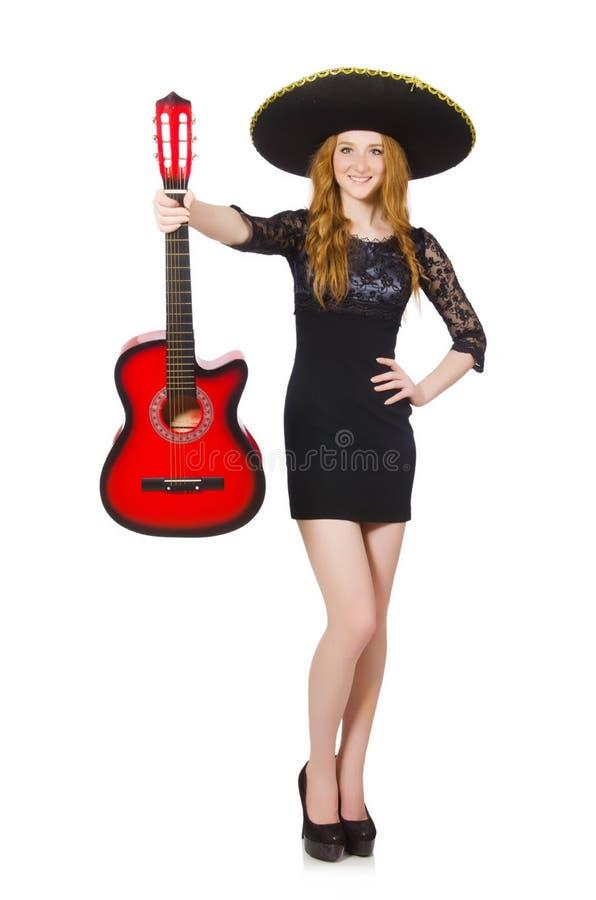 Download Mujer en sombrero imagen de archivo. Imagen de instrumento - 41914933