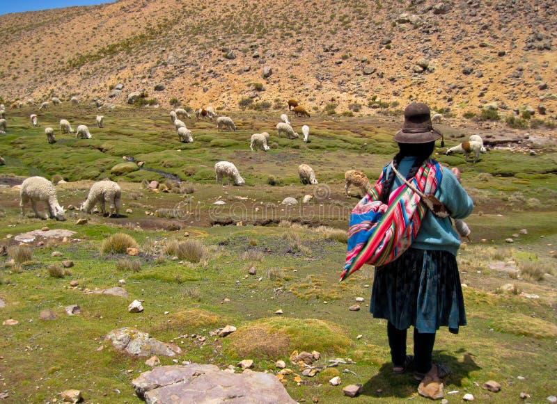 Mujer en Suramérica foto de archivo