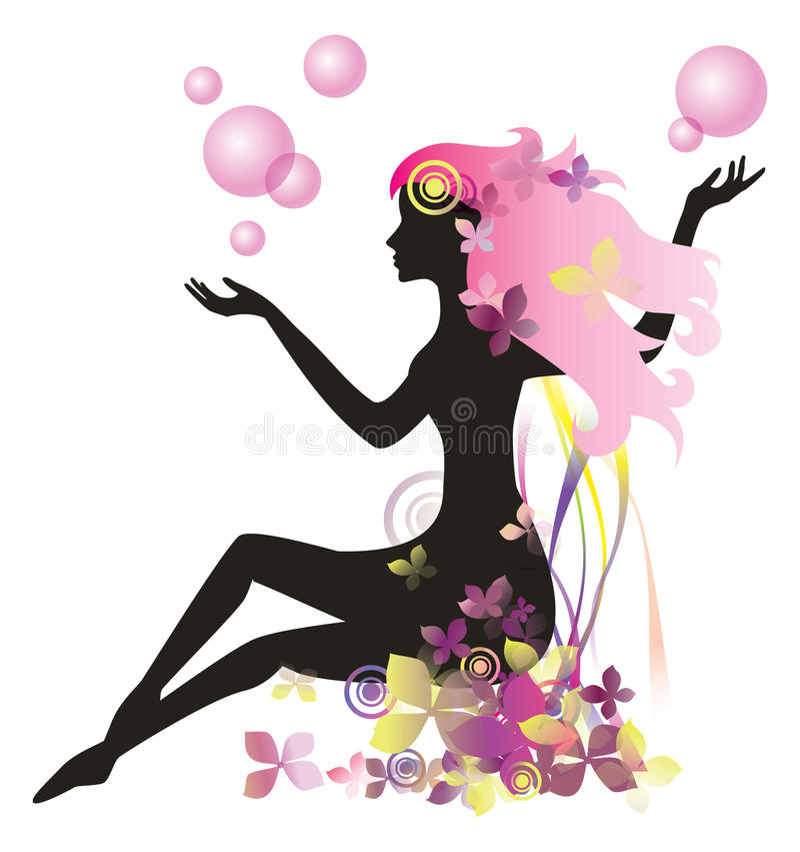 Mujer en un balneario libre illustration