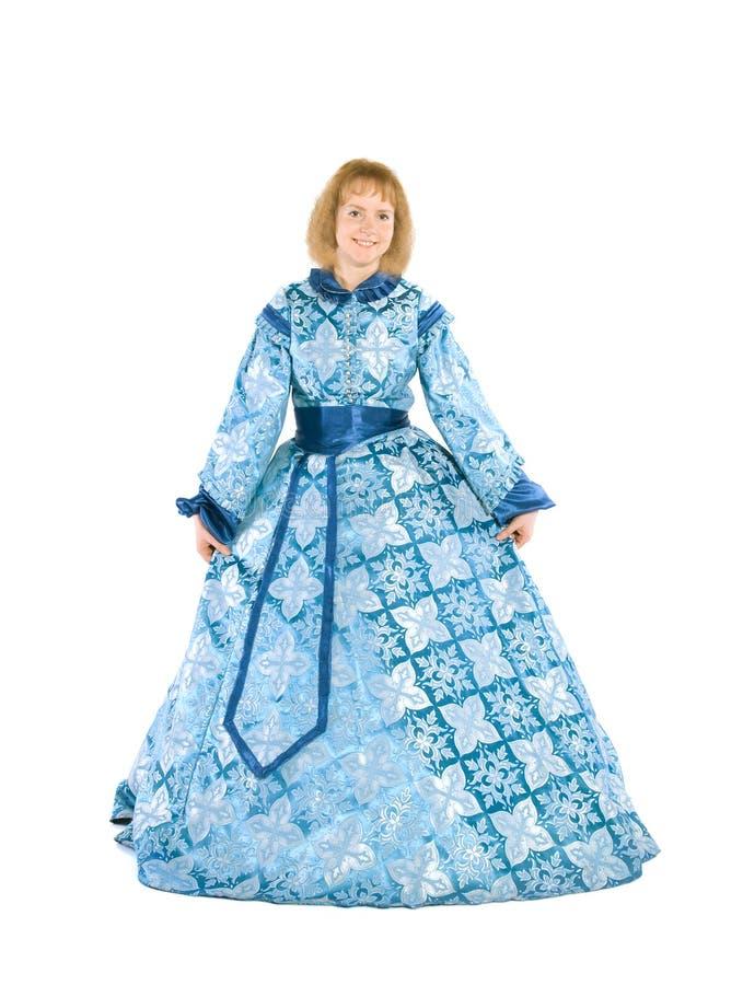 Mujer en un fancydress imagen de archivo libre de regalías