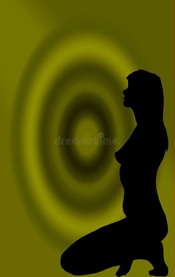 Mujer en una blanco