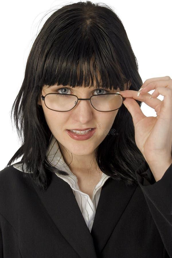Mujer en vidrios foto de archivo libre de regalías