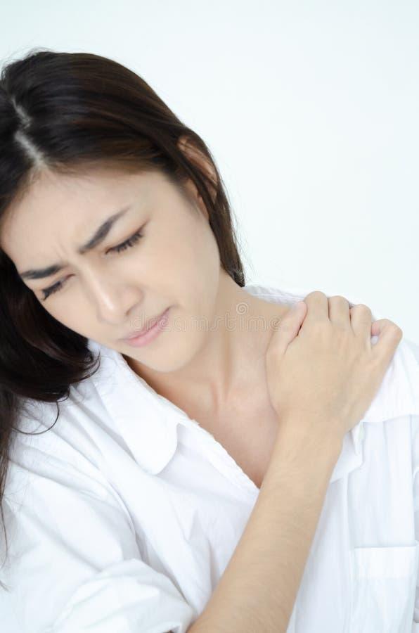 Mujer enferma con dolor fotografía de archivo