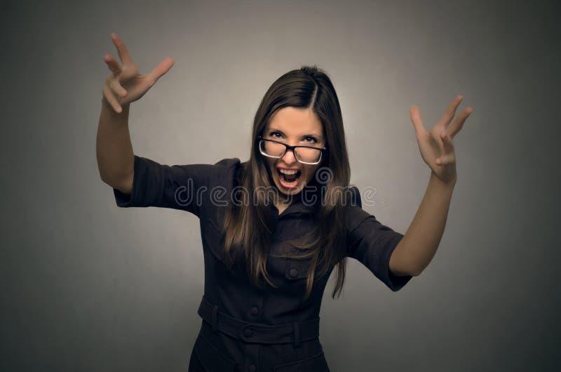 Mujer enojada foto de archivo libre de regalías