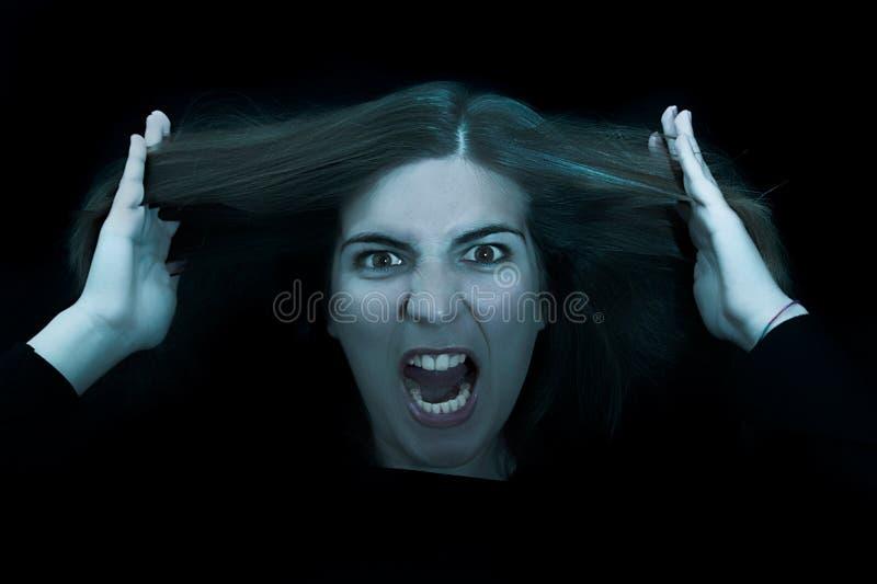 Mujer enojada fotografía de archivo