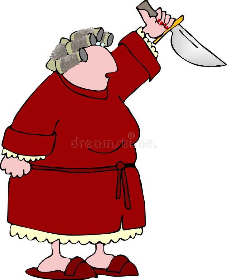 Mujer enojada 3 ilustración del vector