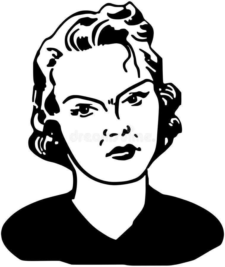 Mujer enojada ilustración del vector