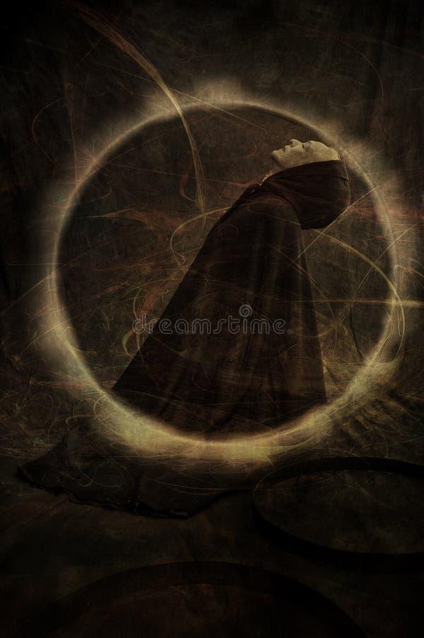 Mujer espiritual ilustración del vector