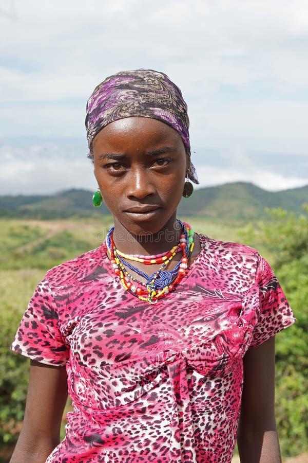 Mujer etíope, Etiopía, África imágenes de archivo libres de regalías