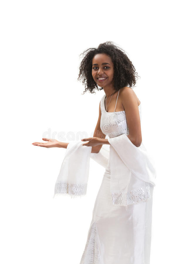 Mujer etíope del welcom imagenes de archivo