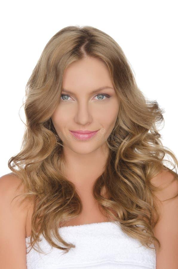 Mujer europea joven hermosa, imagen de archivo