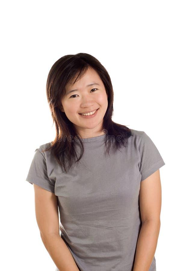 Mujer feliz del deporte de la sonrisa imágenes de archivo libres de regalías