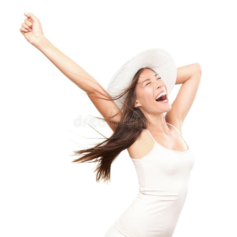 Mujer feliz del verano imágenes de archivo libres de regalías