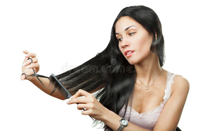 Download Mujer Feliz Que Sostiene Las Tijeras Imagen de archivo - Imagen de señora, muchacha: 42440119