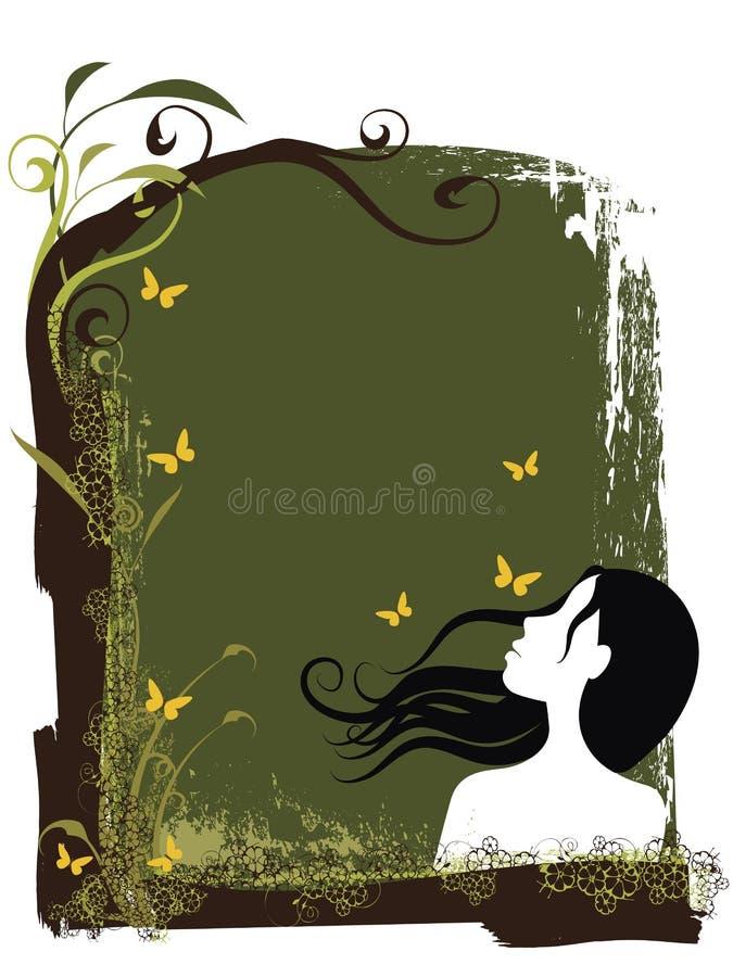 Mujer floral ilustración del vector