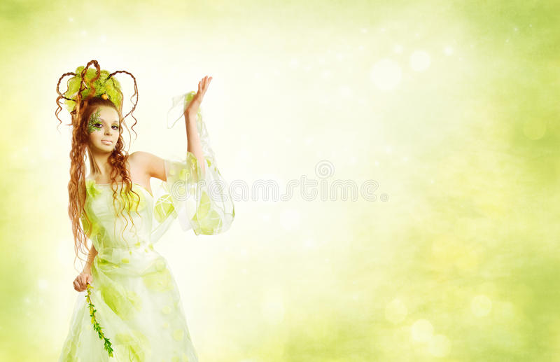 Mujer floral del resorte imagen de archivo