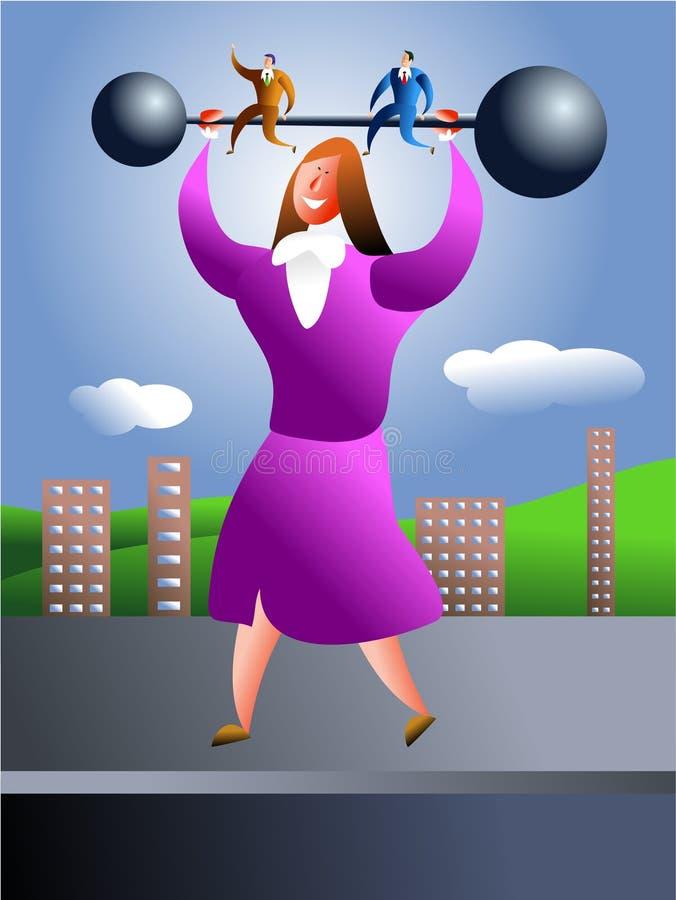 Mujer fuerte stock de ilustración