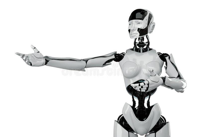 Mujer futurista con la cintura de avispa stock de ilustración