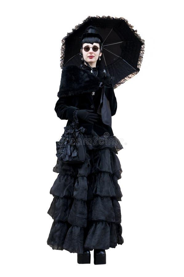 Mujer gótica imagen de archivo