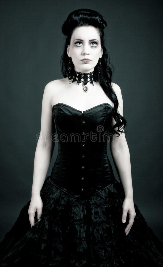 Mujer gótica fotos de archivo libres de regalías