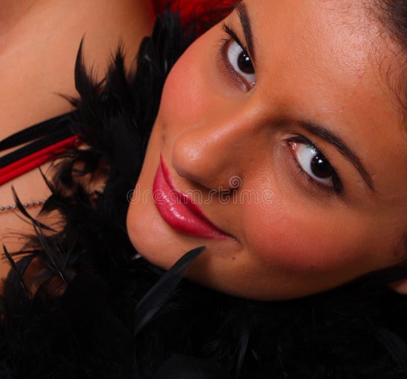 Mujer gótica atractiva foto de archivo libre de regalías
